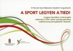 A sport legyen a tied